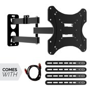 """Aspectek Full Motion Swivel Arms Tilt TV Wall Mount Bracket for Most 26"""" - 55"""" LED LCD Plasma Flat Screen Monitor TVs, VESA Up to 400x600mm, Weight Capacity Up to 66lbs"""