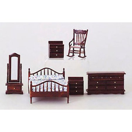 Dollhouse Mahogany Master Bedroom Set
