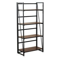 Deals on 4-Tier Metal and Wood Industrial Bookshelf