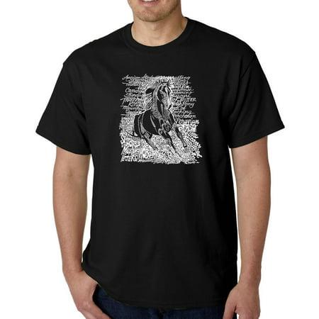 Men's T-Shirt - Popular Horse Breeds (Horse T-shirt Designs)