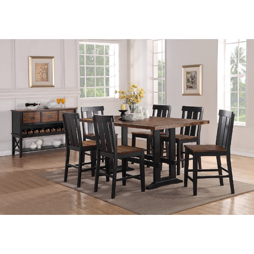 Gracie Oaks Goodman 7 Piece Counter Height Dining Set