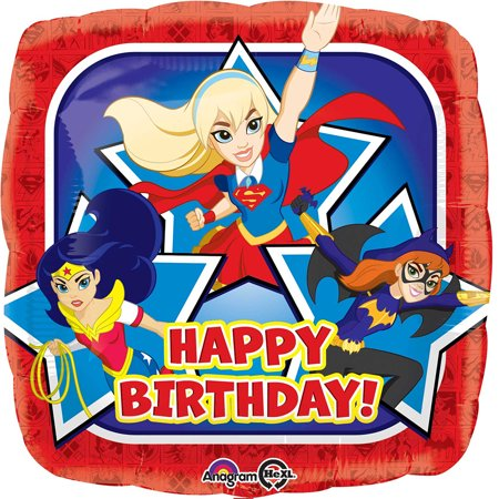 DC Super Hero Girls Happy Birthday Authentic Licensed Theme Foil / Mylar Balloon 18