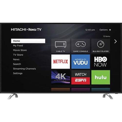 "Refurbished Hitachi 49"" Class 4K (2160P) Roku Smart LED TV (49R80) by Hitachi"