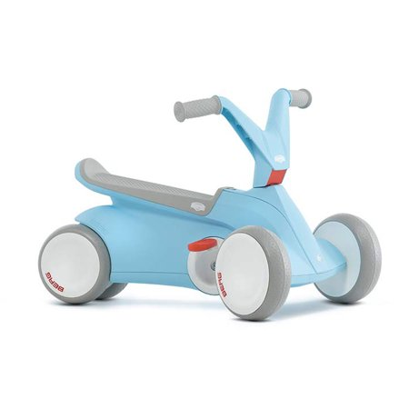 BERG Toys GO2 2-in-1 Toddler Push and Pedal Small Go-Kart Ride On Toy, Blue