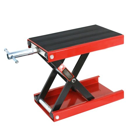 - Zeny 1100 LB Wide Deck Scissor Lift Jack Stand Motorcycle Center Hoist Bikes ATVs