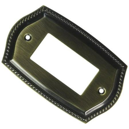 Baldwin 4796050 Single GFCI Rope Switch Plate - Antique Brass Baldwin Single Gfci Solid Brass