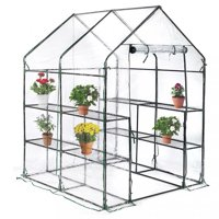 "BestMassage Mini Greenhouse- 56.5"" x 56.5"" x 76"" - Portable Walk-In Greenhouse"