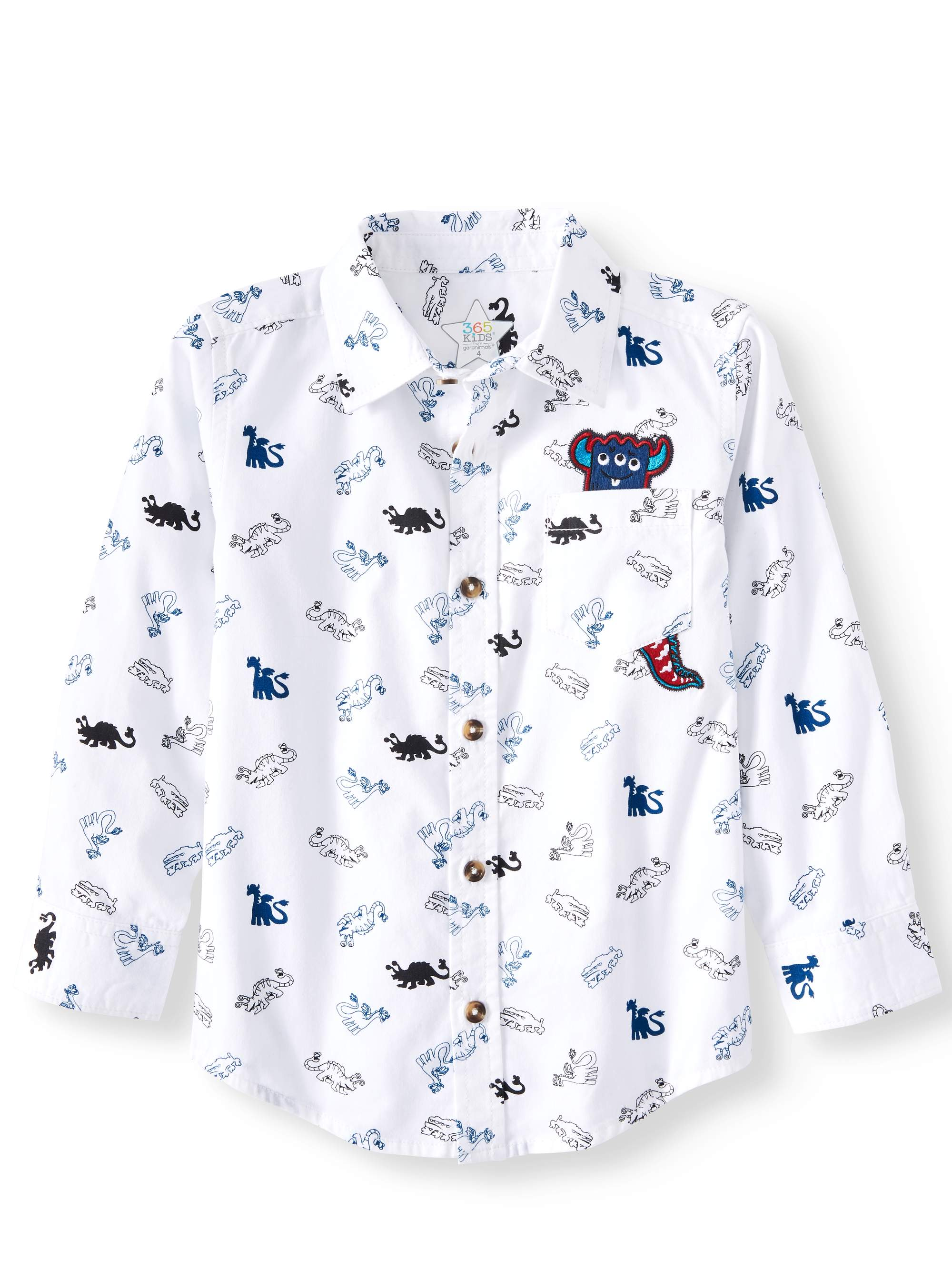 Print Button Down Shirt (Little Boys & Big Boys)