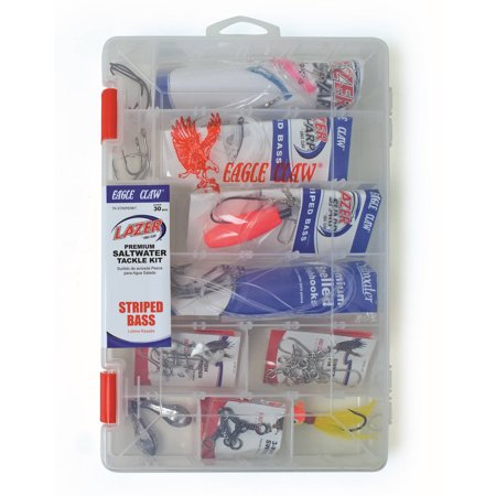 Eagle claw striped bass saltwater tackle kit for Fishing kit walmart