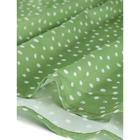 Allegra K Mini-Robe à Manches Courtes et à Pois pour Femmes Vert M (EU 40) - image 2 de 6
