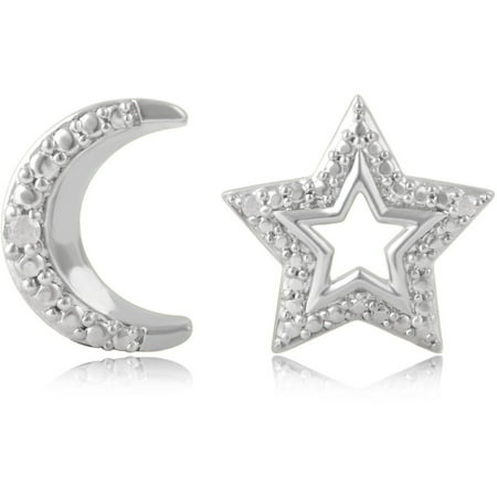 Diamond Accent Silver Overlay Star And M