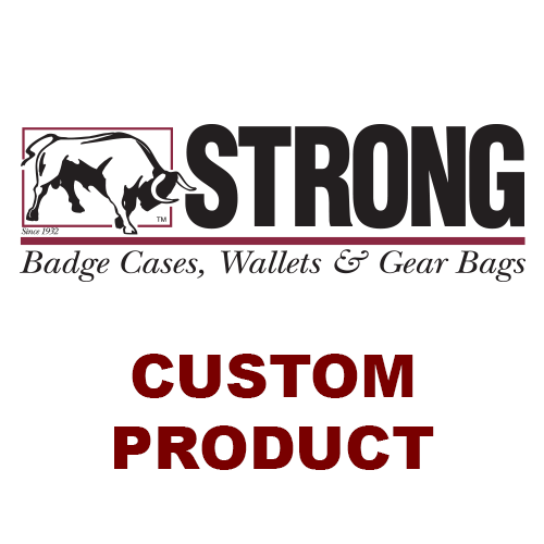 Strong Leather 71317-0002 Round Velcro Closure Badge Holder with Chain, Black - 71317-0002 - Strong Leather Company