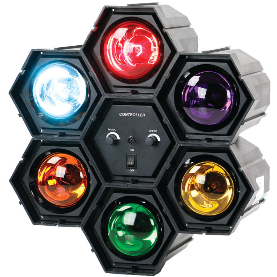 QFX 66 6-Color Sound-Responsive TRAFFIC Disco Light