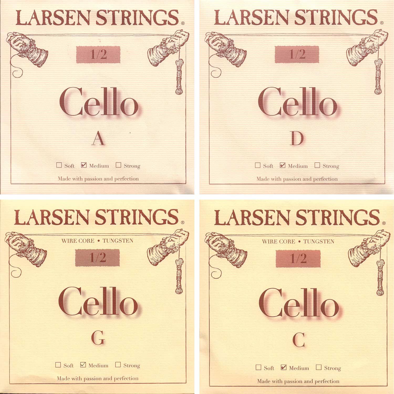 Larsen 1 2 Cello String Set Medium Gauge by Larsen