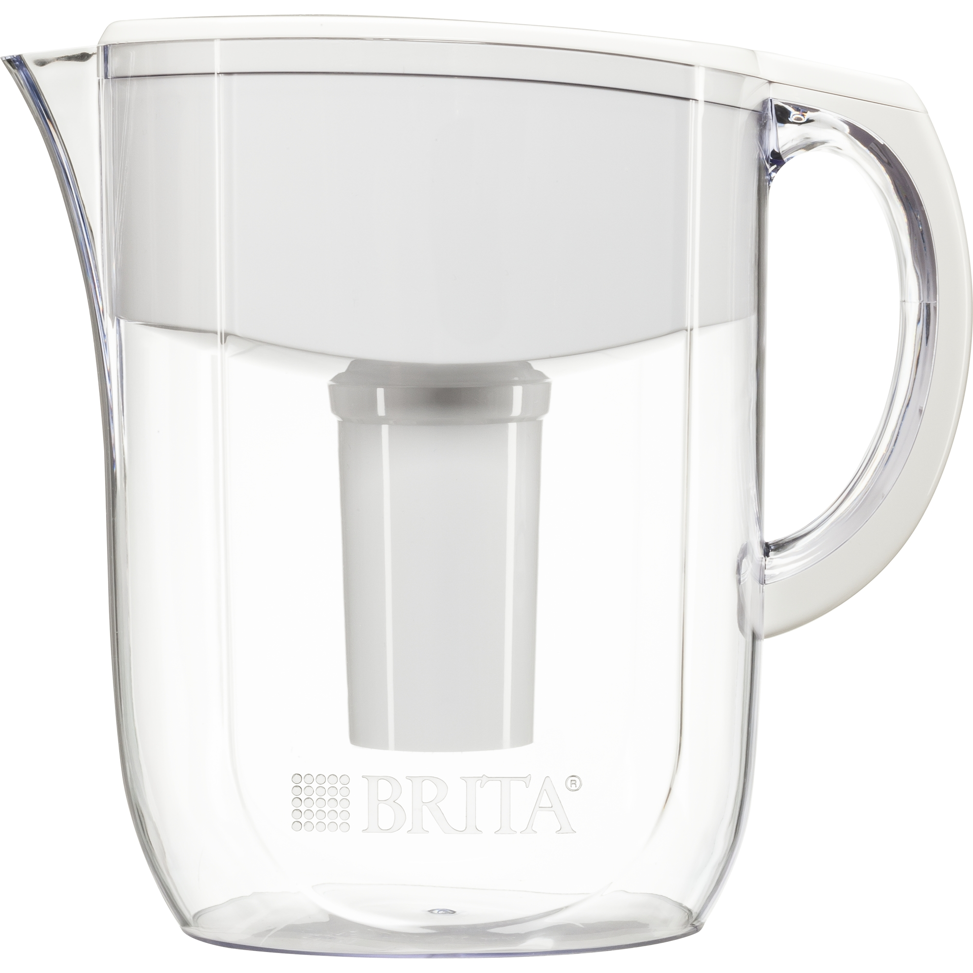 Captivating Brita 10 Cup Everyday BPA Free Water Pitcher With 1 Filter, White
