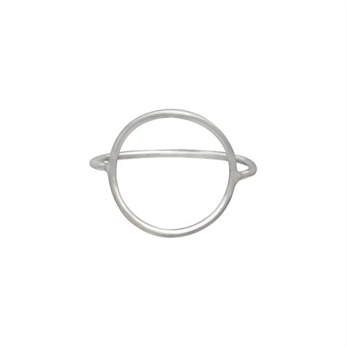 Open Circle Ring in Sterling Silver, Sizes 6, 7, 8, #6771 (6)