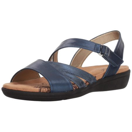 Soft Style By Hush Puppies Women's Pavi Sandal, Blue, Size 8.0 ()