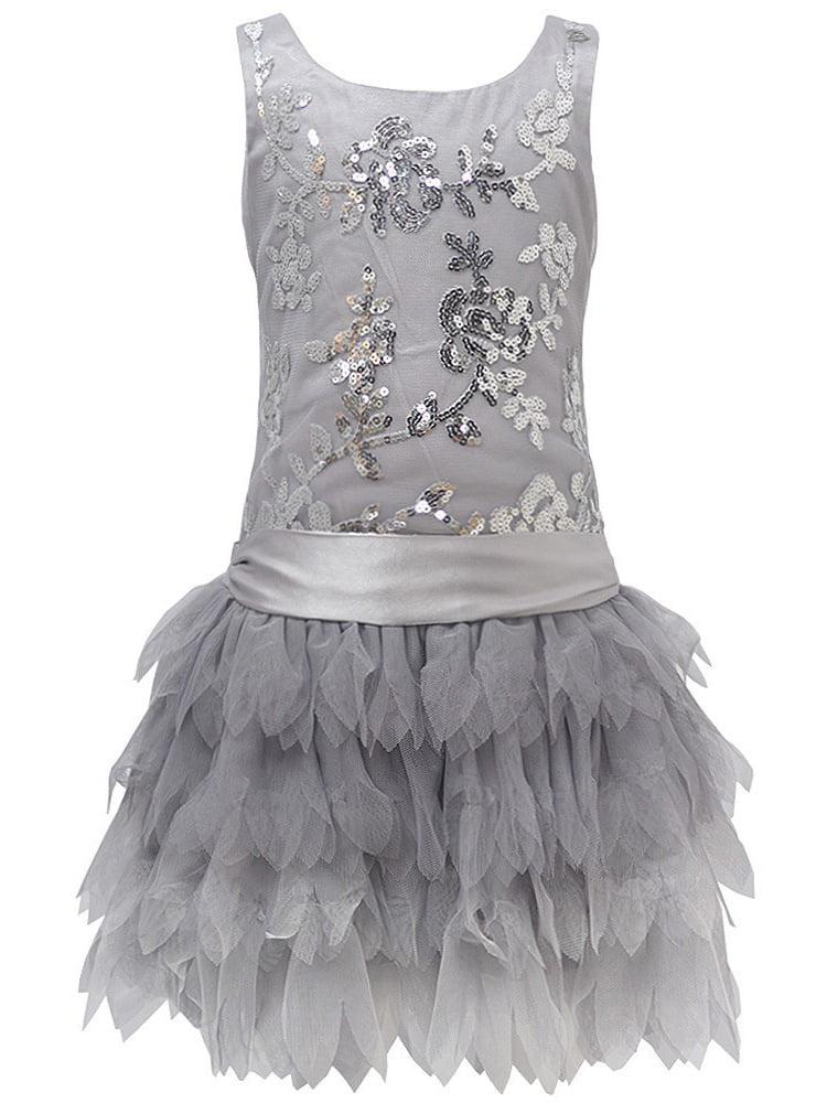 Biscotti Little Girls Black Sparkle Sleeveless Party Dress