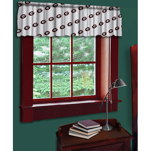NCAA Georgia Bulldog Valance, Red
