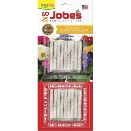 (Jobes Flowering Plant Food Spikes, Nutrients feed at the roots Ship from US..., By Jobe's)
