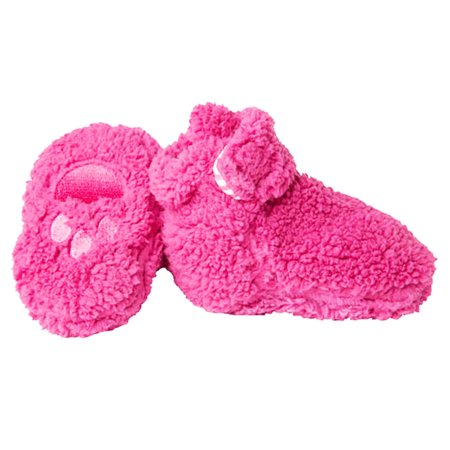 Magnificent Baby Booties Girls Newborn Fleece Shoe Socks with Quick and Easy Magnet Close 12-18 Months Fuchsia Hot Pink (Zapatos y zapatitos de bebe)