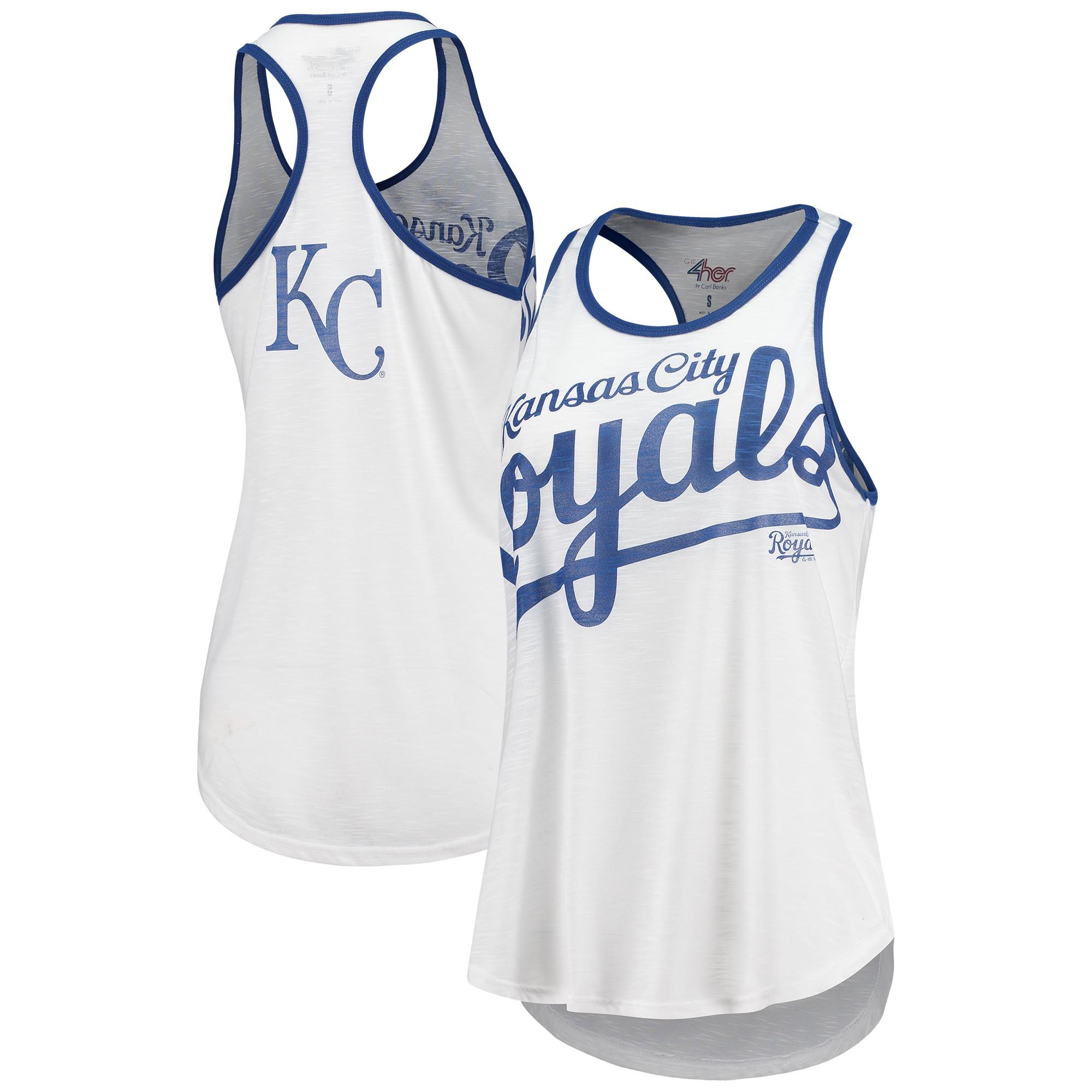 Kansas City Royals G-III 4Her by Carl Banks Women's Break the Game Tank Top - White