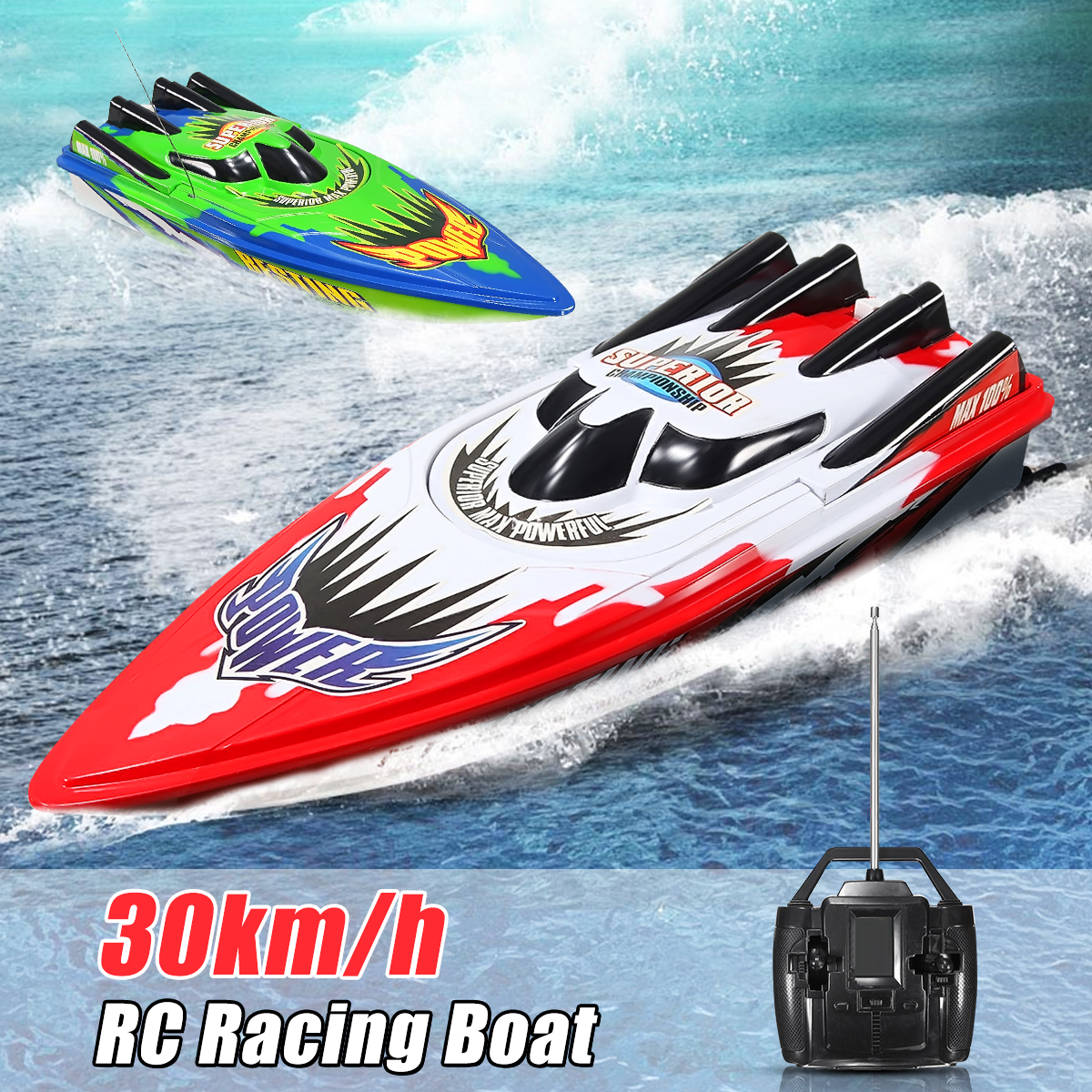 2 Color Radio Remote Control Twin Motor Speed Boat RC Racing Boat Toy Kids Children by