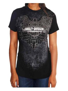 6ae6fa1b21c1a9 Product Image Harley-Davidson Women s Crack The Whip Embellished Short  Sleeve Tee
