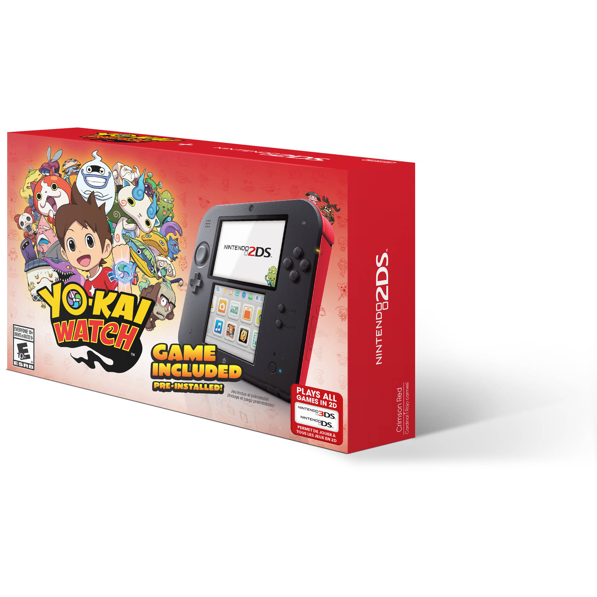 Nintendo 2DS with Yo-Kai Watch Game, Red