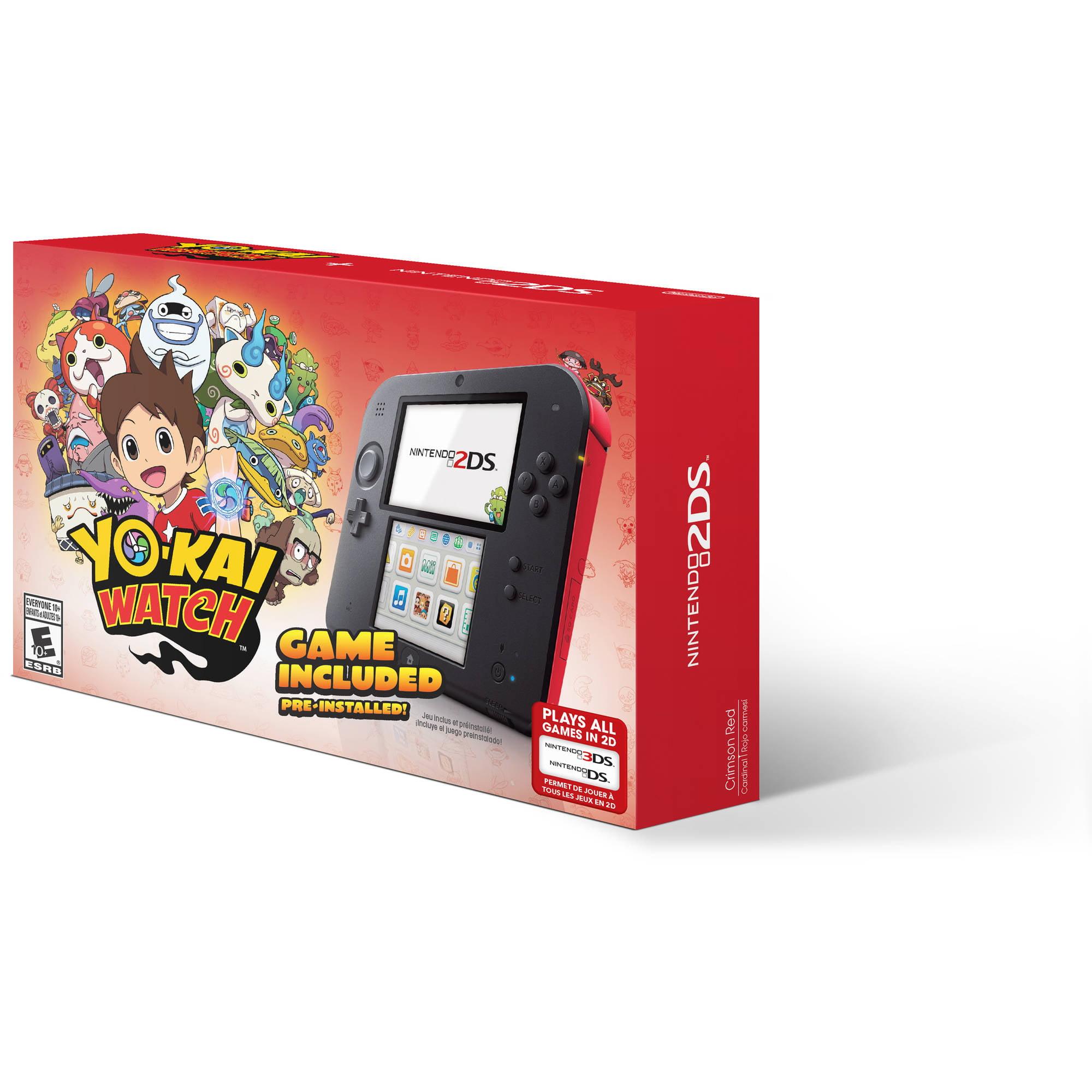 Nintendo 2DS with Yo-Kai Watch Game, Red