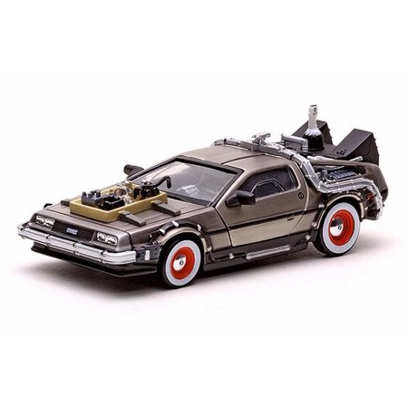 1981 DeLorean DMC 12 Coupe - Back to the Future III Time Machine, Stainless Steel - Sun Star 24013 - 1/43 Scale Diecast Model Toy (Sun Devils Future Star)