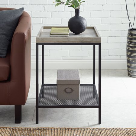 Frankie Tray Top Grey Wash Side Table by River Street Designs ()