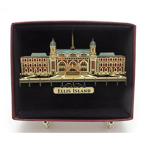 Ellis Island Brass Christmas Ornament Ny Souvenir Gift ()