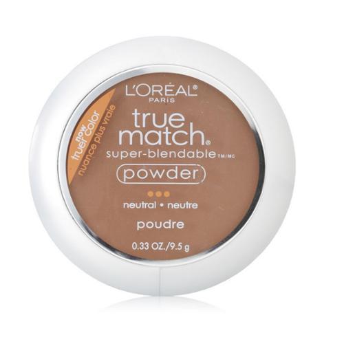 L'Oreal True Match Powder, Cappuccino [N8], 0.33 oz (Pack of 4)