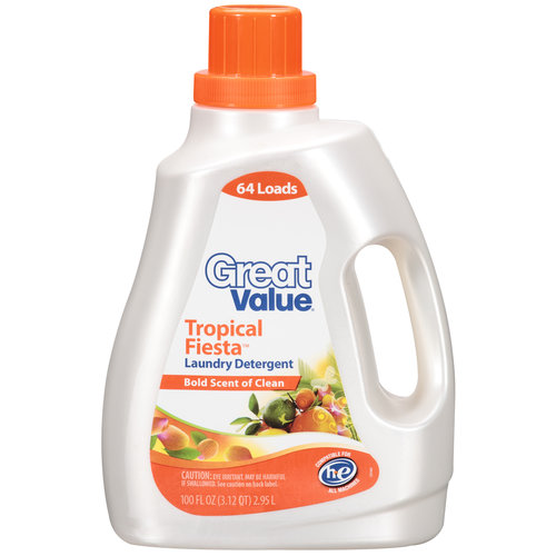 Great Value Tropical Fiesta Laundry Detergent, 100 oz