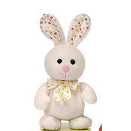 Standing White Bunny with Polka Dot Bow 8