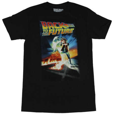 Back to the Future Mens T-Shirt  - Classic Marty McFly Movie Poster Image - Marty Mcfly Clothes
