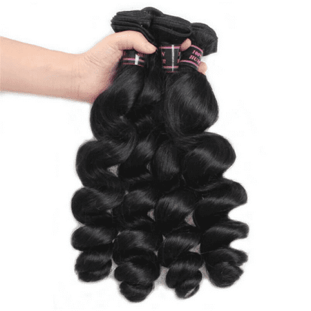 Allove 7A Brazilian Loose Wave Virgin Hair 10 Bundles Deals Wholesale Price Hair Extensions,