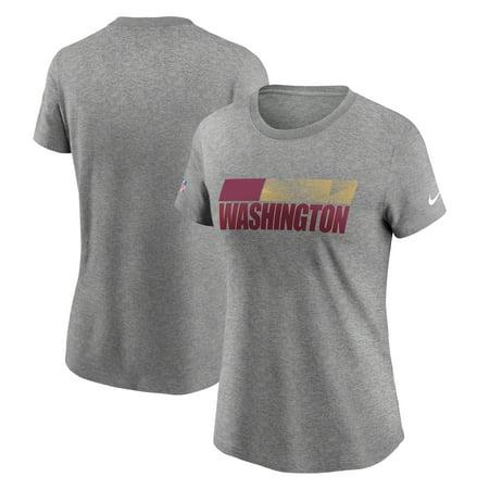 Washington Football Team Nike Women's Playbook Sideline T-Shirt - Heather Charcoal