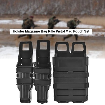 Tactic Molle Pouch,HURRISE Tactic Molle Holster Magazine Bag Rifle Pistol Mag Pouch Set for Military Hunting Game