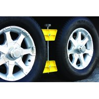 "Camco RV Wheel Stop- Stabilizes Your Trailer by Securing Tandem Tires to Prevent Movement While Parked- 26"" to 30"" Tires- Large (44622)"