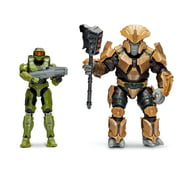 HALO Master Chief with Hydra Launcher vs. Brute Chieftain with Gravity Hammer (Infinite), 2 Figure Pack, 4-inch Figure with Accessories