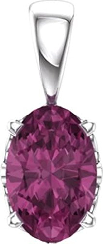 14kt White Pink Tourmaline Pendant by Bedrock Jewelry