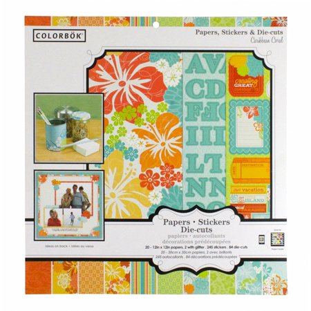 Colorbok Caribbean Coral Papers, Stickers & Die-Cuts 12x12 Scrap