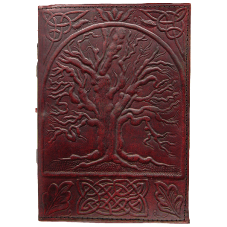 Large Tree Of Life Leather Journal | Linen by Medieval Collectibles Life Leather Journal