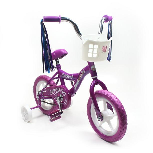 BMX 12 Inch Kids Girls Bike Front Basket Training Wheels 2-4Years Old Bicycle