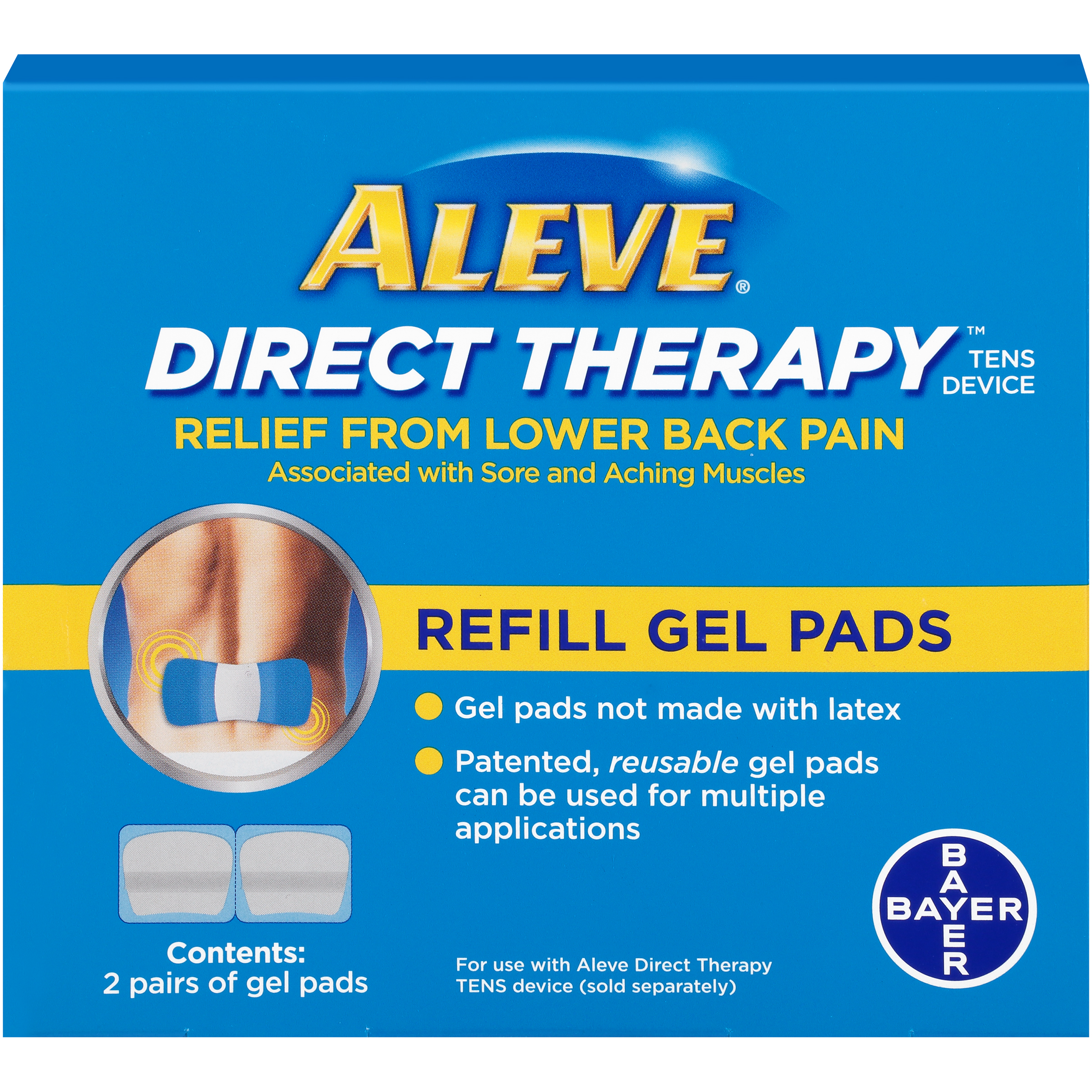 Aleve Direct Therapy Relief From Lower Back Pain Refill Gel Pads - 2 CT