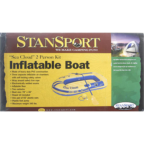 Stansport Sea Cloud 2-Person Inflatable Boat