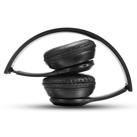 Wireless bluetooth Sports Gym Stereo Headphones with Microphone Portable FM Headset Earphones - image 5 of 7