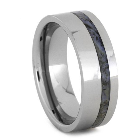 Dinosaur Bone Wedding Band, Tungsten Ring, 8MM